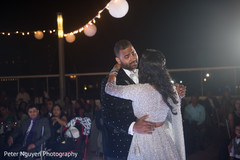 indian wedding reception,indian bride and groom,first dance