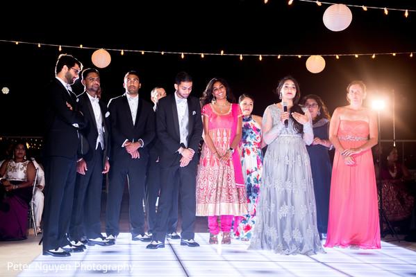 Indian bridesmaids and groomsmen speech capture
