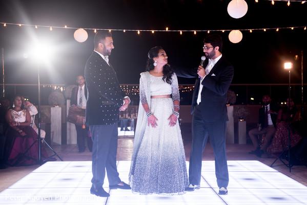 Indian groomsmen giving a speech