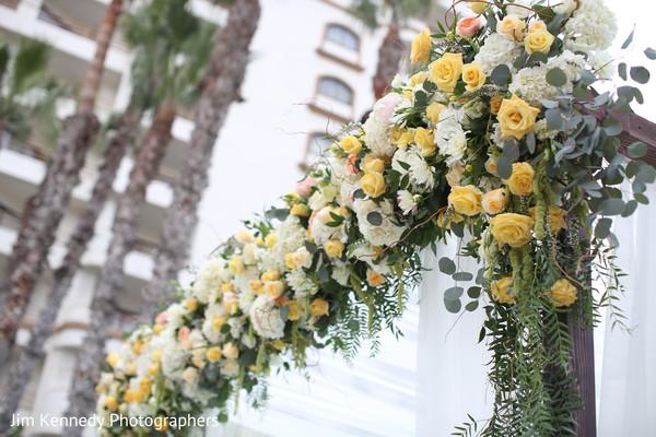 Beautiful floral mandap.