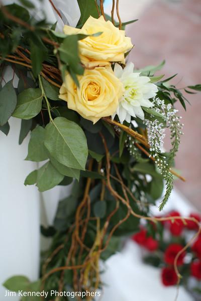 Mandap floral details.