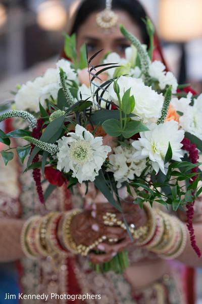 Enchanting Indian bride bouquet.