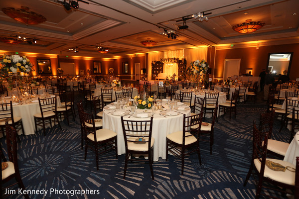 indian wedding reception,floral and decor,uplightning