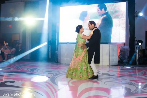Sweet indian couple dancing