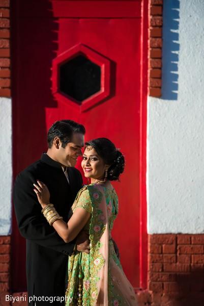 Delightful indian bride and groom