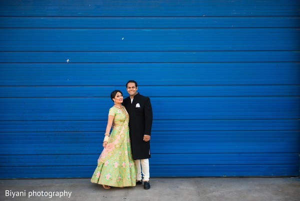 Enchanting indian bride and groom