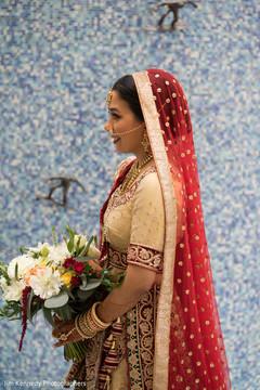 Splendid traditional bridal lengha.