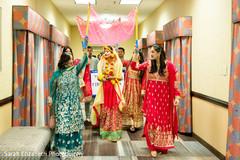 red lengha,bridal lengha,indian bride entrance