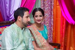 indian couple,mint sherwani,bridal lengha
