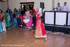 red lengha,wedding reception fashion,choreography