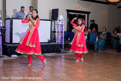Lovely girls dancing during indian wedding