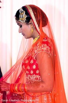 indian bride fashion,red lengha,bridal lengha