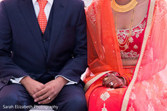 indian groom fashion,suit,red tie,red lengha