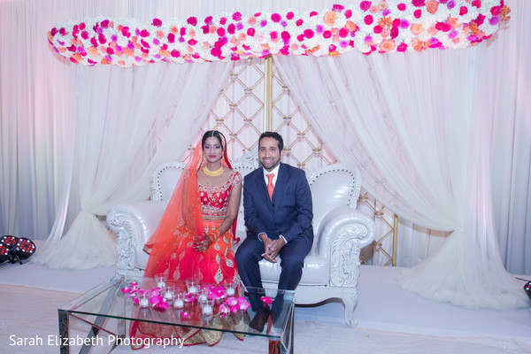 indian newlyweds,indian wedding,indian wedding stage