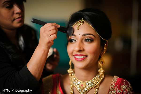 bridal makeup,indian bride makeup,getting ready