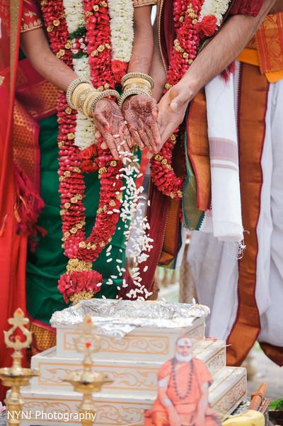 Indian wedding rice ceremony