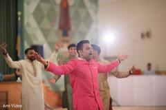 pre-wedding celebration,garba,indian groom,choreography