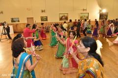 pre-wedding celebration,garba,dandiya sticks