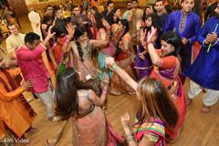 pre-wedding celebration,garba,dandiya sticks,dj