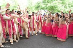 indian bridesmaids,indian groomsmen,baraat