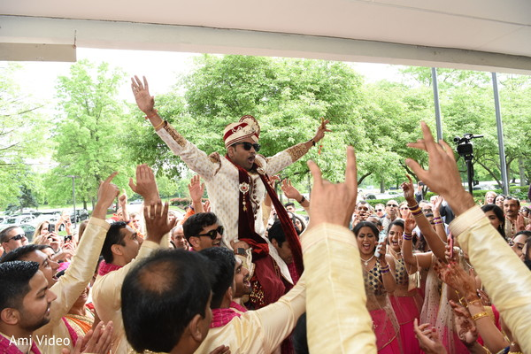 Indian bridesmaids,  Indian groomsmen, baraat,