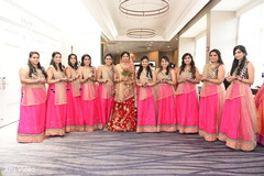 indian bride,indian bridesmaids,bridal party fashion