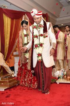 indian bride and groom,indian wedding ceremony,mandap