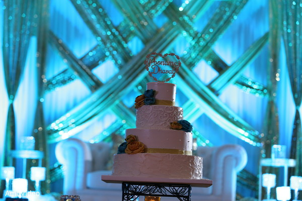 indian wedding reception,floral and decor,wedding cake,planning and design