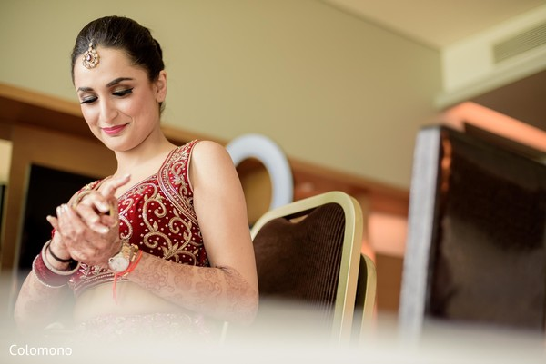 indian bride getting ready,hair and makeup,bridal fashion