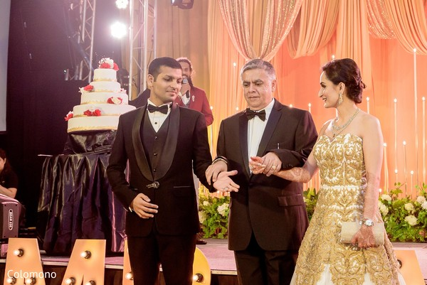 reception fashion,indian wedding reception,indian bride and groom