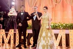 reception fashion,indian wedding reception,indian bride and groom