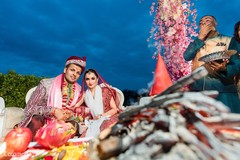 indian wedding ceremony,mandap,indian bride and groom