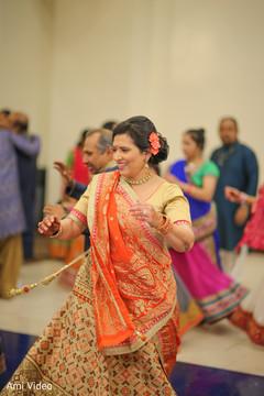 sangeet,orange lengha,pre wedding celebrations