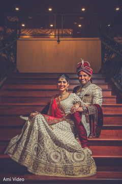 golden lengha,white lengha,indian groom fashion