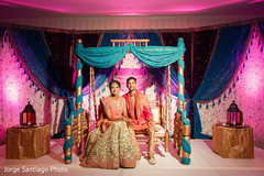 indian bride and groom,flora and decor,pre-wedding celebration