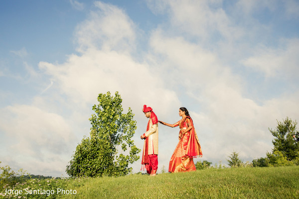 indian bride and groom,wedding ceremony fashion,first look