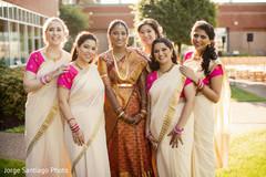 indian bridesmaids,indian bride,sarees