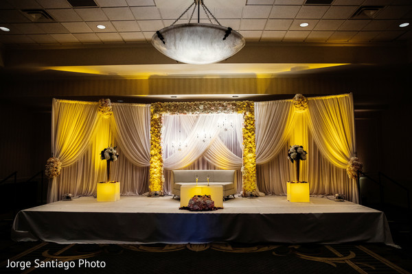 indian wedding reception photography,floral and decor,uplightning