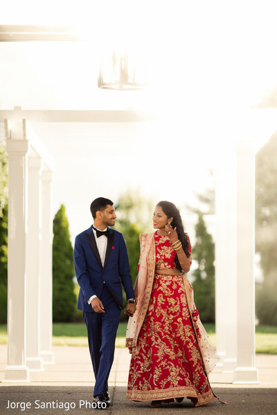 Marvelous Indian bide and groom reception fashion. in Pittsburgh, PA Indian Wedding by Jorge Santiago Photography