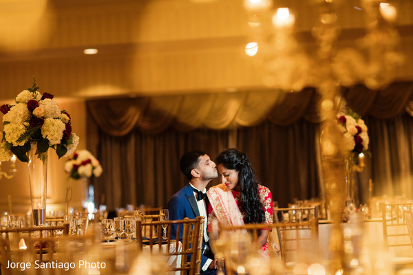 indian bride and groom,floral and decor,indian wedding reception