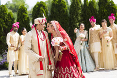 indian newlyweds,indian wedding photography