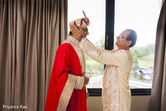 indian groom,getting ready,beige sherwani