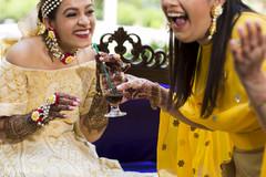 bridal mehndi,mehndi,yellow sari