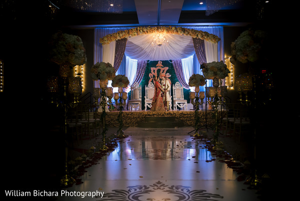 indian wedding ceremony,floral and decor,mandap,indian bride and groom
