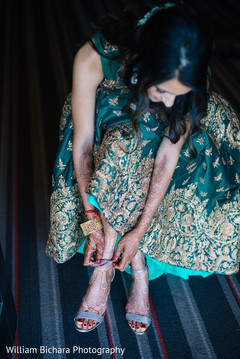 indian bride,bridal shoes,getting ready