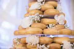 indian wedding reception,donuts wedding cake,wedding cake
