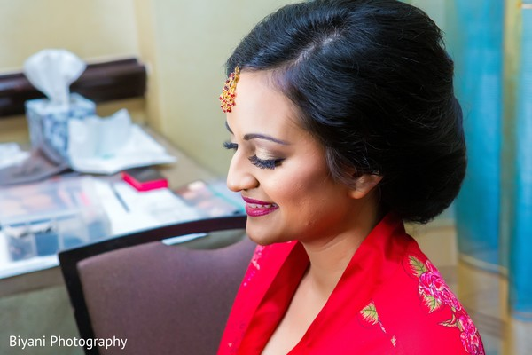 getting ready,indian bride hair and makeup