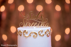 indian wedding reception,wedding cake,floral and decor,cake topper