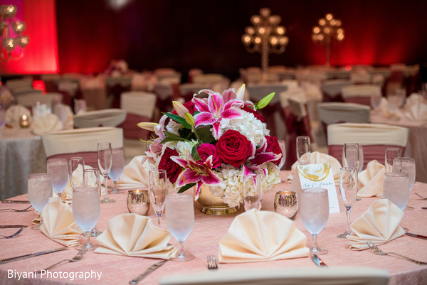 indian wedding reception,floral and decor,floral centerpiece