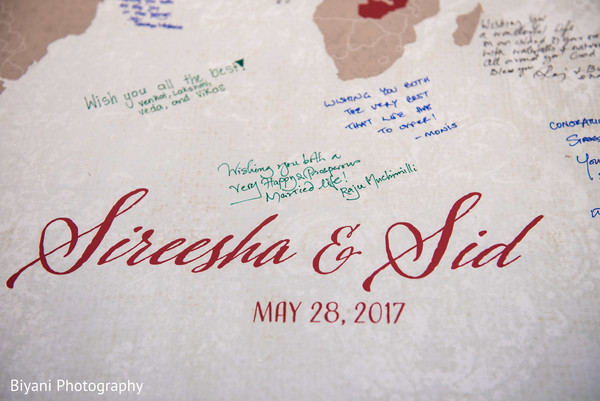 World Map Indian wedding guest book. in Houston, TX Indian Wedding by Biyani Photography